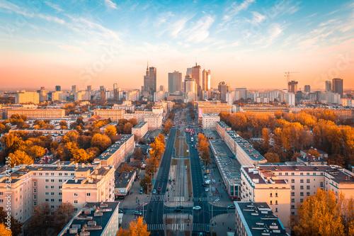 Foto Warszawa z lotu ptaka
