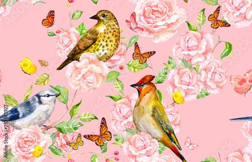 retro-bezszwowa-tekstura-z-ptakami-na-roza