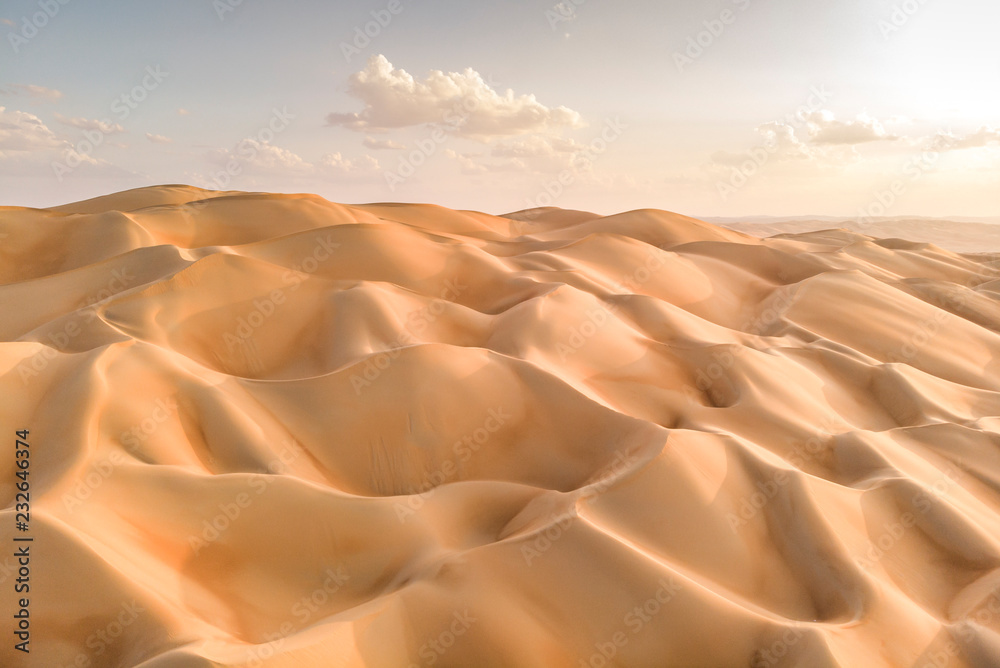 aeril view of Liwa desert, part of Empty Quarter, the largest continuous sand desert in the world