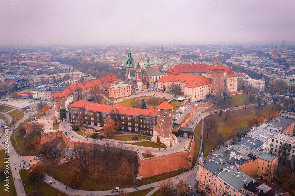 Fototapeta Kraków z lotu ptaka