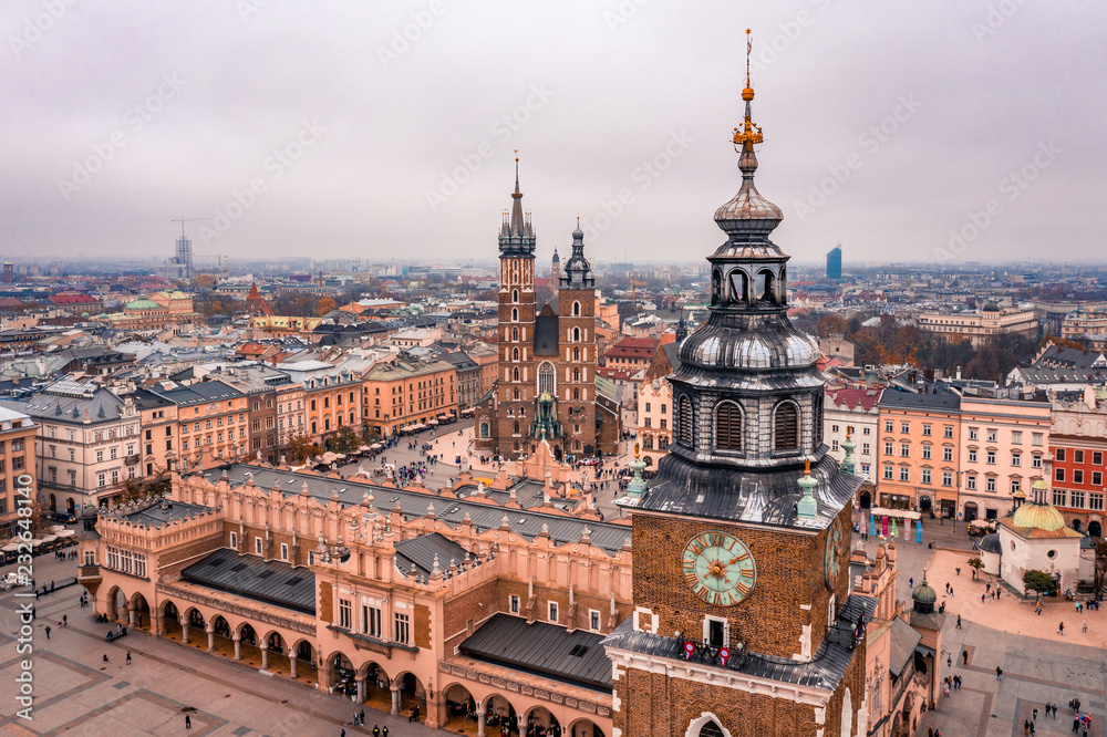 Obraz Kraków z lotu ptaka fototapeta, plakat