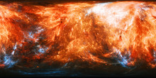 Fiery Planet Texture With Blue...