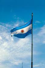 Argentina Flag Fluttering