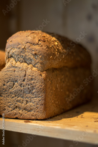 Tuinposter Brood Fresh loaf of bread