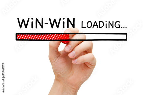 Win-Win Loading Bar Concept Canvas Print