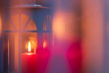 Candle Lantern. Selective Focu...