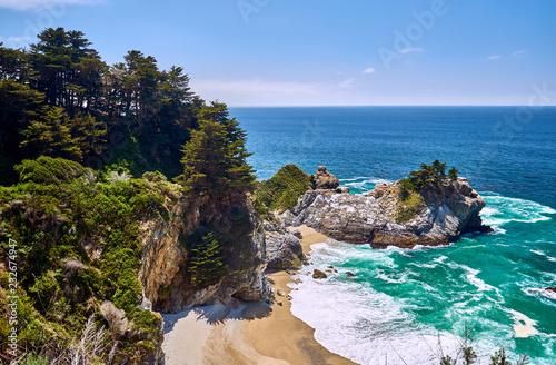 Spoed Foto op Canvas Verenigde Staten USA Pacific coast beach landscape, California