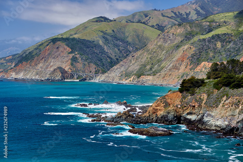 Tuinposter Kust Pacific coast landscape in California
