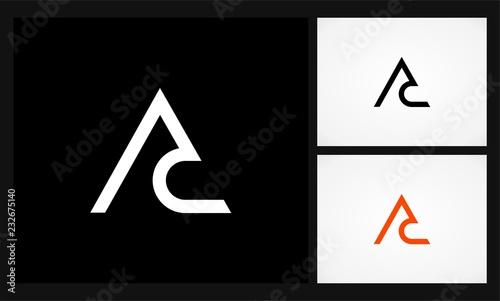 Photo letter AC monogram triangle logo