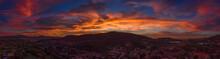 San Diego Aerial Sunset Panora...