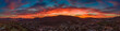 canvas print picture - San Marcos sunset - North county San Diego, California, USA aerial panoramic
