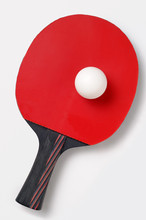 Table Tennis Bat And Ball, Cut Out