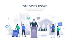 Politician Giving Speech Concept