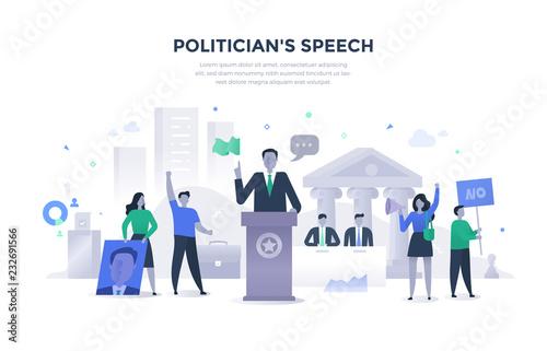Cuadros en Lienzo Politician Giving Speech Concept