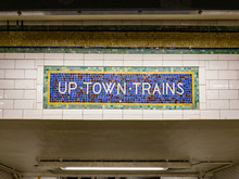 Uptown Trains Sign