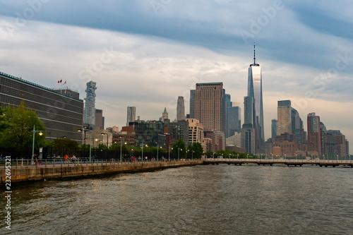 Poster Chicago New York Skyline