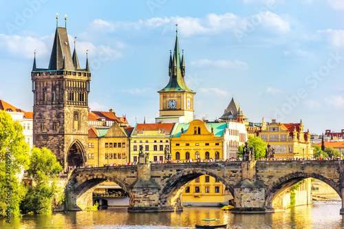 Charles Bridge, Old Town Bridge Tower and the Old Town Hall, Pra Wallpaper Mural