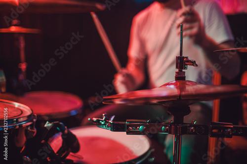 Photo Professional drum set closeup