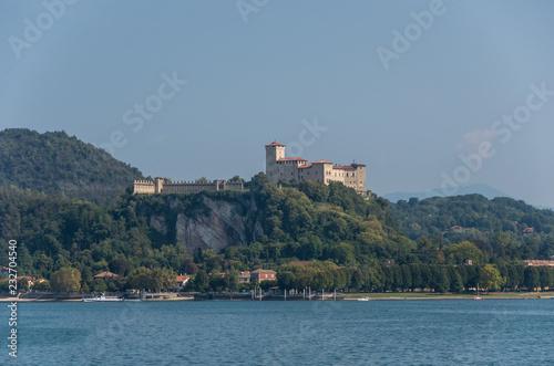 Fényképezés Rocca di Angera, view from the lake Maggiore, Italy