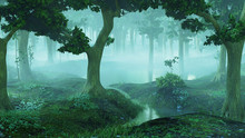 Magical And Foggy Fantasy Fore...