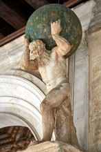 Historic Atlas Statue Carrying...
