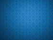 Blue wallpaper with damask pattern
