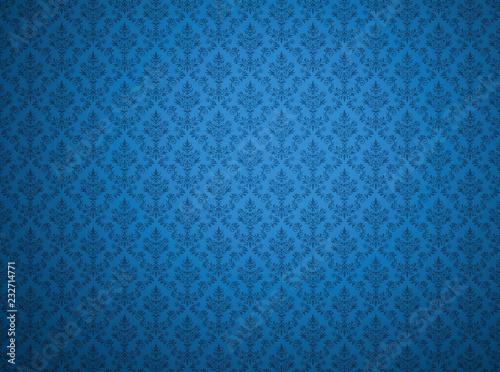 niebieska-tapeta-z-adamaszkowym-wzorem