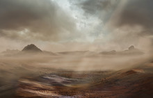 Fantasy Desert Landscape With ...