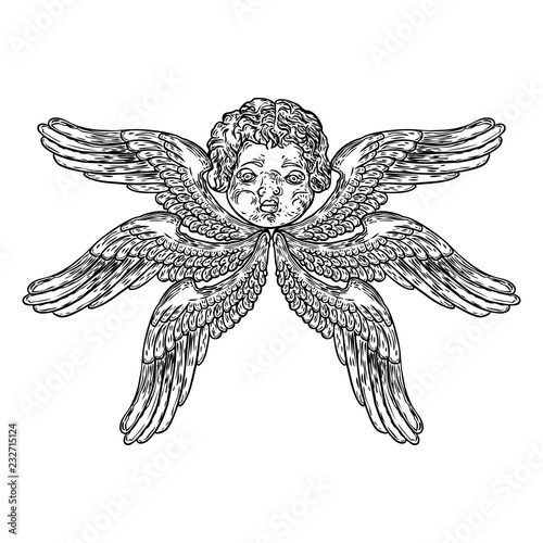 Photo Cherub with wings