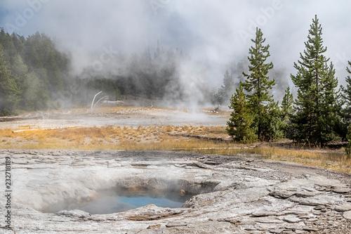 Fotografie, Obraz  Upper Geyser Basin, Yellowstone National Park, Wyoming, USA