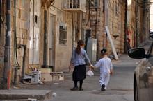 Children In Mea Shearim In Jer...