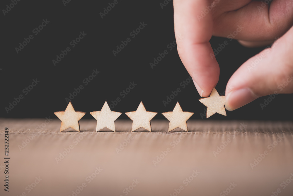 Fototapeta The best excellent business services rating customer experience concept