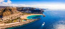 Aerial View Of The Gran Canaria Island Near Amadores Beach