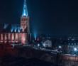 canvas print picture - Kirche bei Nacht