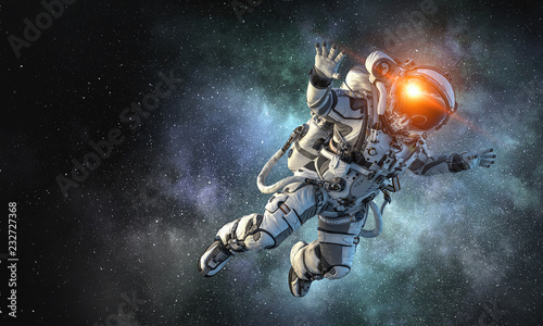 Astronaut on space mission....