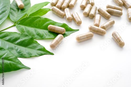 Herb capsule, Nutritional Supplement Wallpaper Mural
