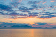北海道 支笏湖の朝焼け