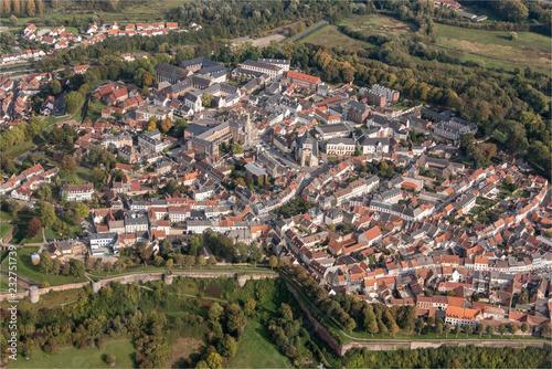Fotografie, Obraz  Vue aérienne de la ville de Montreuil dans le Pas-de-Calais en France