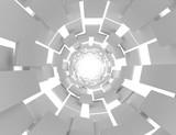 Fototapeta Do przedpokoju - 3D futuristic abstract background . 3d rendered illustration