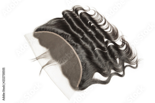 Body wave wavy black human hair weaves extensions lace frontal closure Canvas Print