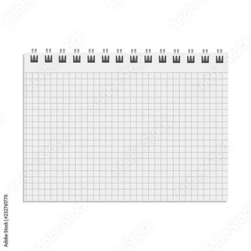 Fotomural Blank realistic notebook. Diary notepad, paper page and notebook