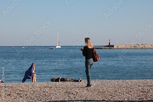 Fotografie, Obraz  Ragazza in spiaggia