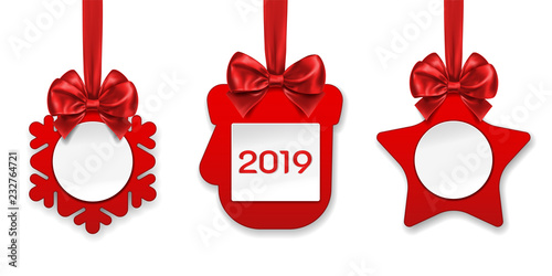 2019 new year paper decorations or ornament for christmas