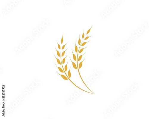 Valokuvatapetti Agriculture wheat Logo Template vector icon design