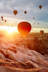Color balloon. Sunrise.