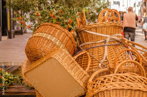 Fotografía  Wicker Wooden Basket