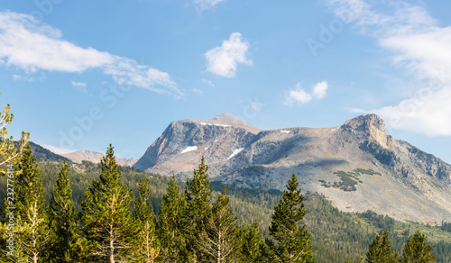 Poster Centraal-Amerika Landen Mount Dana in Yosemite park, panoramic view, California