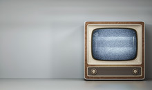 Vintage Tv Receiver 3d Illustr...
