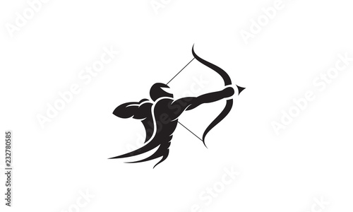 Carta da parati Strong archer vector