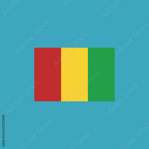 Fotografía  Guinea flag icon in flat design